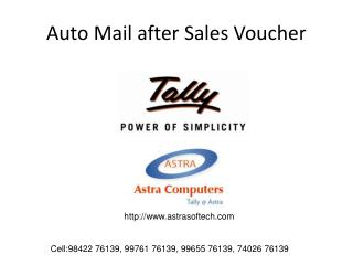 Auto Mail after Sales Voucher