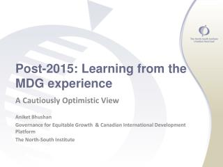 Post-2015: Learning from the MDG experience