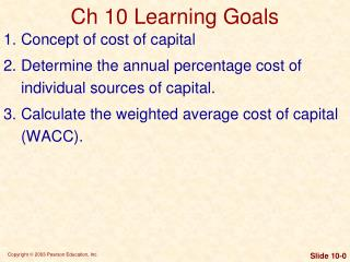 Ch 10 Learning Goals