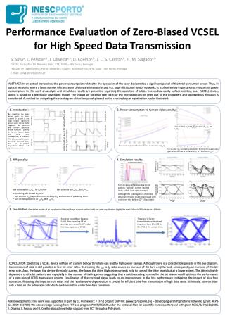 Performance Evaluation of Zero-Biased VCSEL for High Speed Data Transmission