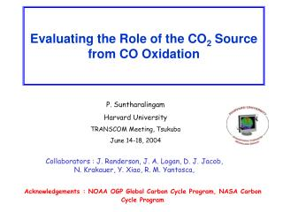 Evaluating the Role of the CO 2  Source from CO Oxidation