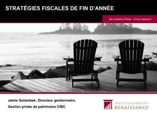 STRATÉGIES FISCALES DE FIN D'ANNÉE