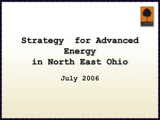Strategy  for Advanced Energy in North East Ohio