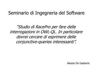 Seminario di Ingegneria del Software