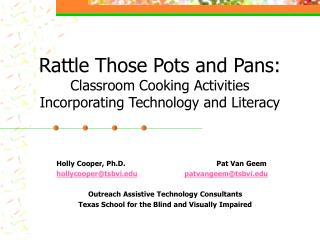 Rattle Those Pots and Pans: Classroom Cooking Activities Incorporating Technology and Literacy