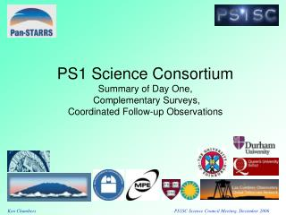 PS1 Science Consortium Summary of Day One,  Complementary Surveys,