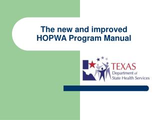 The new and improved  HOPWA Program Manual
