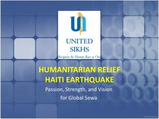 HUMANITARIAN RELIEF  HAITI EARTHQUAKE