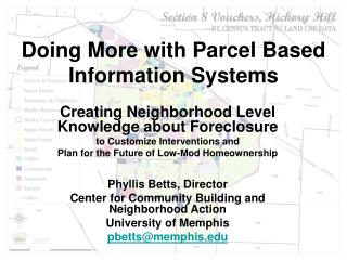 Doing More with Parcel Based Information Systems