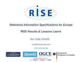 Reference Information Specifications for Europe RISE Results & Lessons Learnt