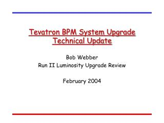 Tevatron BPM System Upgrade Technical Update