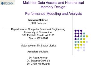 Multi-tier Data Access and Hierarchical Memory Design:  Performance Modeling and Analysis