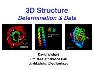 3D Structure Determination & Data