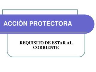 ACCIÓN PROTECTORA