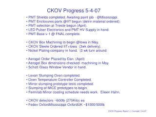 CKOV Progress 5-4-07