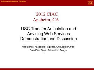 2012 CIAC  Anaheim, CA