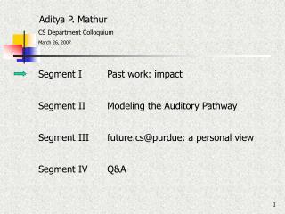 Aditya P. Mathur
