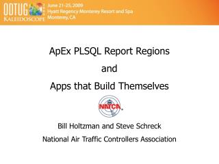 ApEx PLSQL Report Regions and Apps that Build Themselves