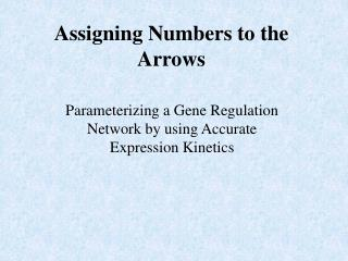 Assigning Numbers to the Arrows