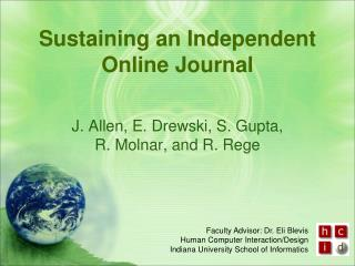 Sustaining an Independent Online Journal