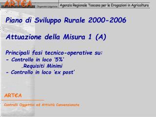 ART€A Controlli Oggettivi ed Attività Convenzionate
