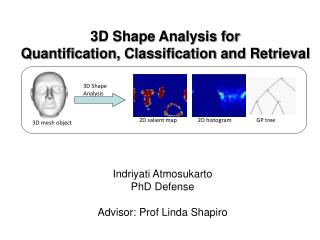 3D Shape Analysis for  Quantification, Classification and Retrieval