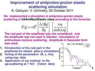 Improvement of antiproton-proton elastic scattering simulation