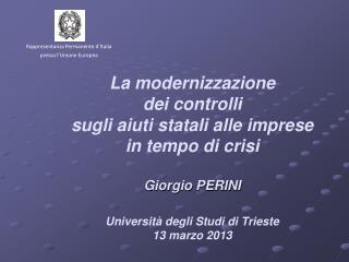 Rappresentanza Permanente  d'Italia  presso l'Unione Europea