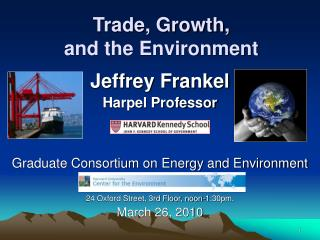 Trade, Growth, and the Environment