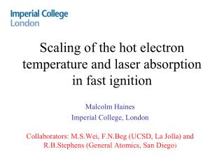 Scaling of the hot electron temperature and laser absorption in fast ignition