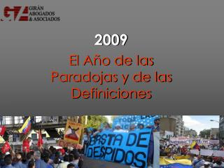 2009 El  Año  de  las Paradojas y de las Definiciones