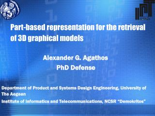 Part-based representation for the retrieval of 3D graphical models