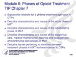Module 6: Phases of Opioid Treatment  TIP Chapter 7