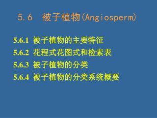 5.6   被子植物 (Angiosperm)