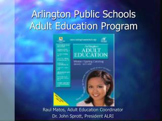Arlington Public Schools Adult Education Program
