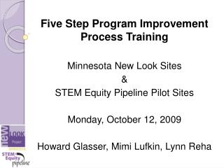 Five Step Program Improvement Process Training Minnesota New Look Sites &
