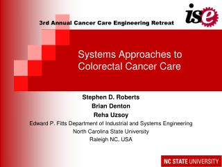 Systems Approaches to Colorectal Cancer Care