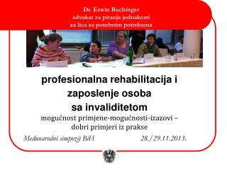 profesionalna rehabilitacija i  zaposlenje osoba