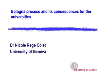 Bologna process and its consequences for the universities