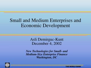 Small and Medium Enterprises and Economic Development