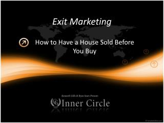 Exit Marketing