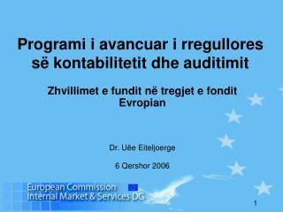 Programi i avancuar i rregullores së kontabilitetit dhe auditimit
