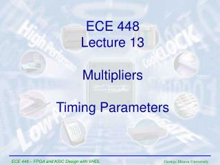 ECE  448 Lecture  1 3
