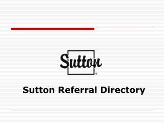 Sutton Referral Directory