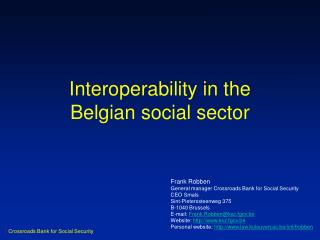 Interoperability in the Belgian social sector