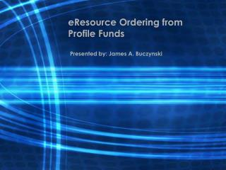 eResource Ordering from