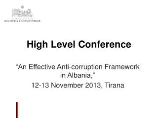 High Level Conference