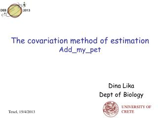 The covariation method of estimation Add_my_pet