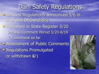 Dam Safety Regulations