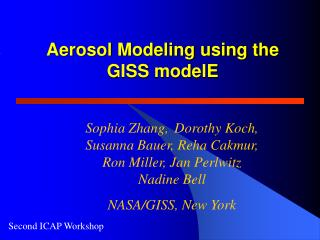 Aerosol Modeling using the GISS modelE